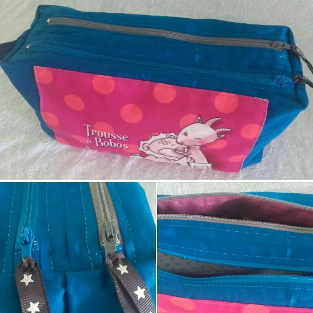 Trousse Zip-Zip cousue par Nani et Nounette avec coupon trousse à bobos O'rana - Patron de couture Sacôtin