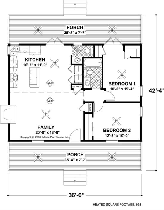 Small House Plan willowcrest small house plan Small House Floor Plans