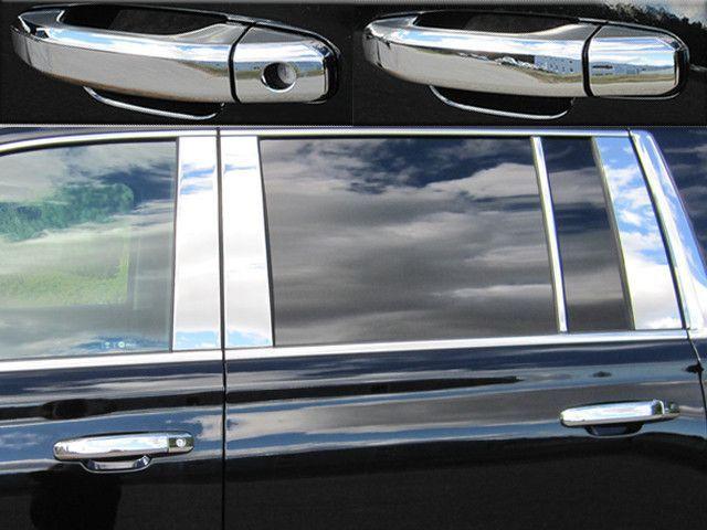 Chevy Silverado Tahoe Suburban GMC Sierra Yukon Chrome Door Handle Cover 4 Door