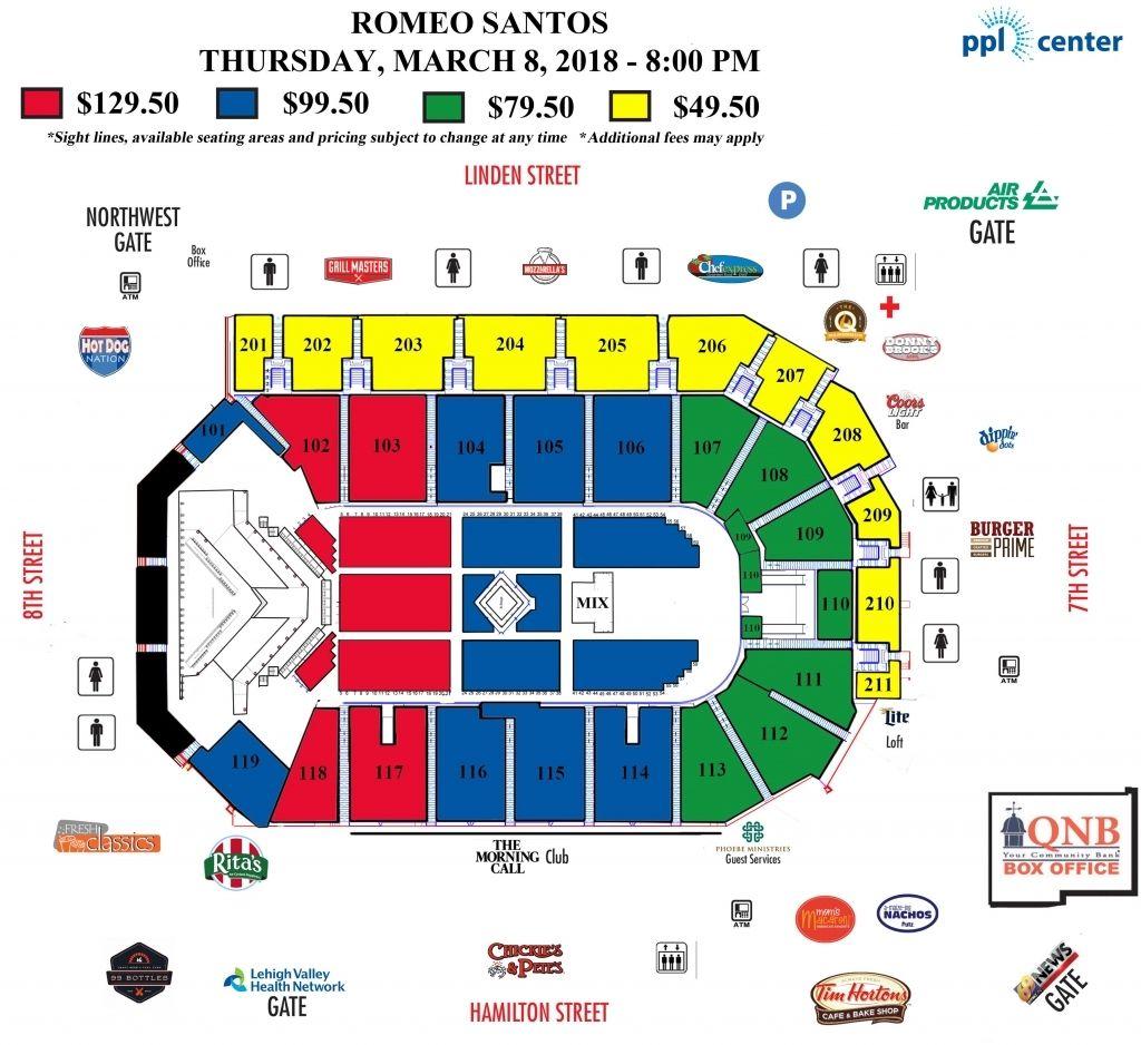 Ppl Center Seating Chart Di 2020 Konser