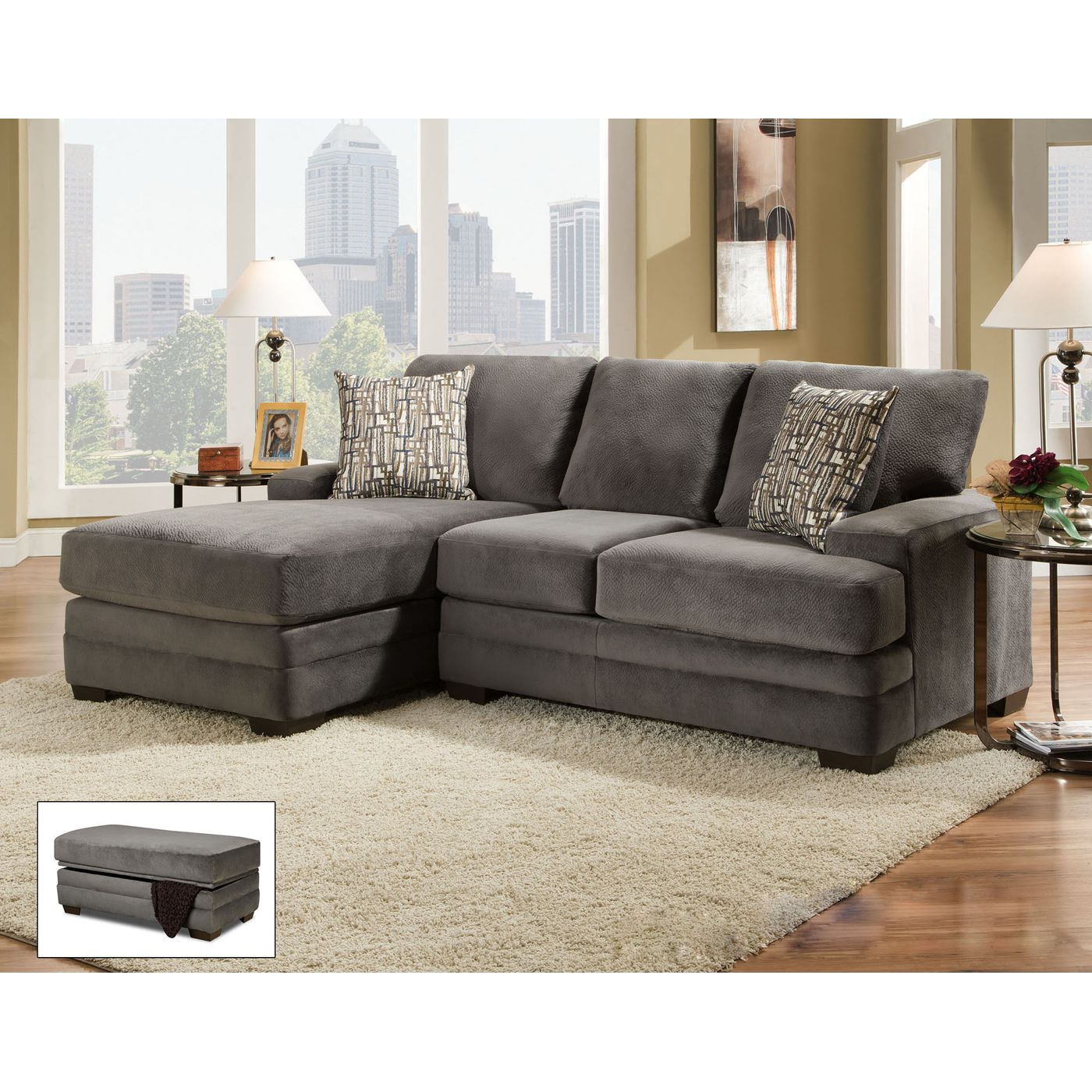 Brady Furniture Industries 162 0s Willshire Straight Sectional