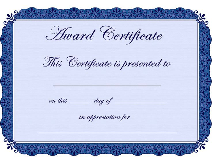Certificate Of Participation Sunday School  Google Search