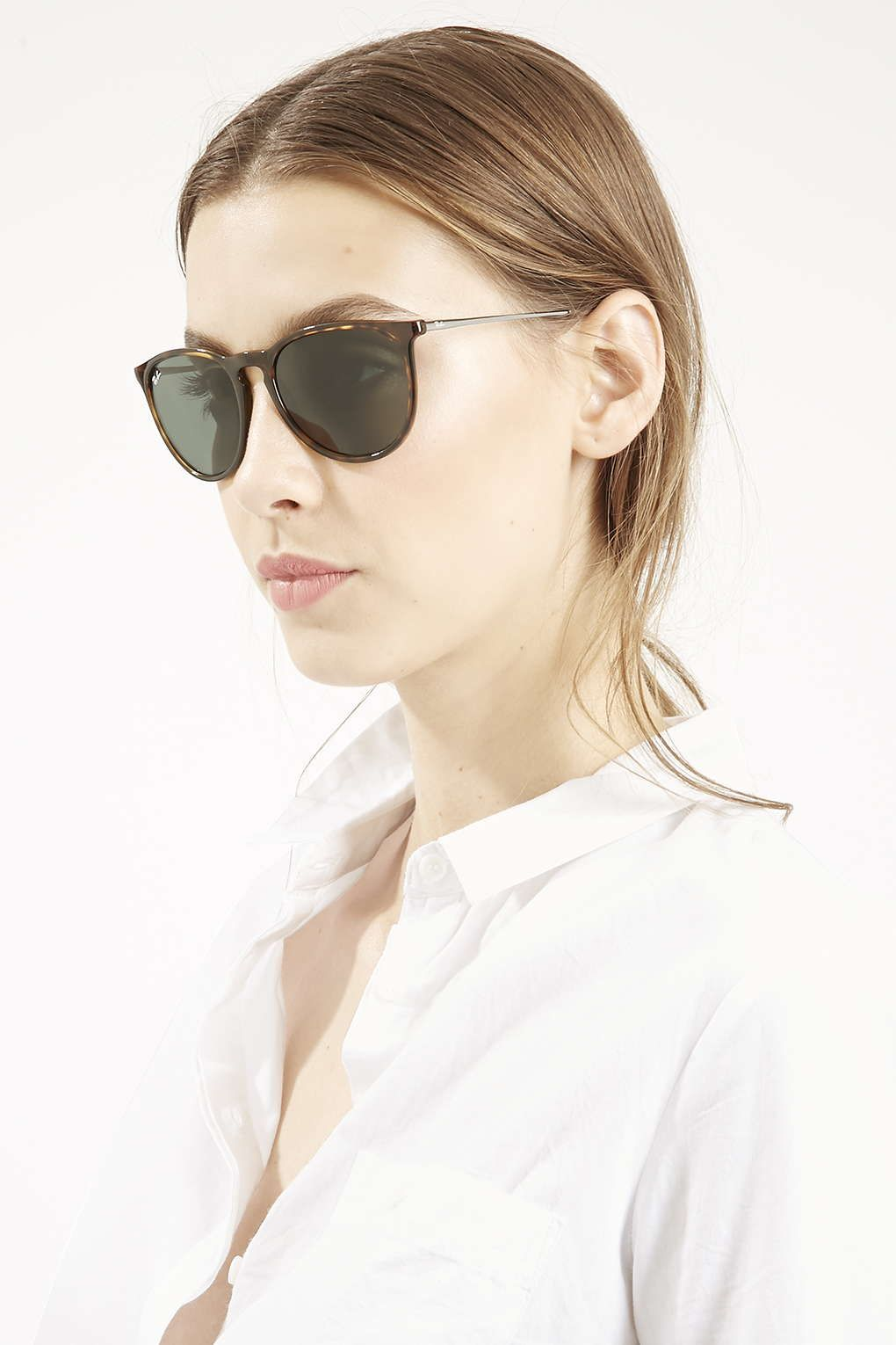 0fe4ee9686   Light Havana Erika Sunglasses by Ray-Ban - Topshop