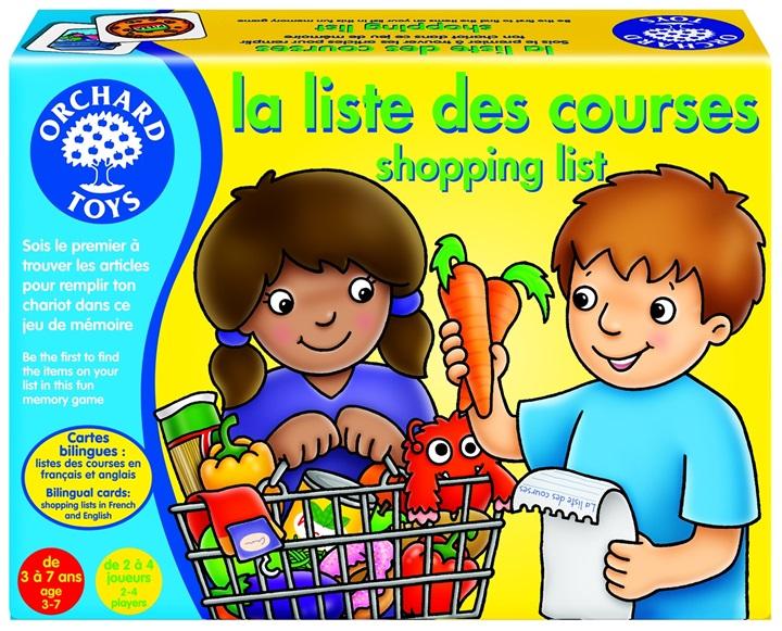 Orchard Toys 171 LA LISTE des Courses Bilingual Memory Game