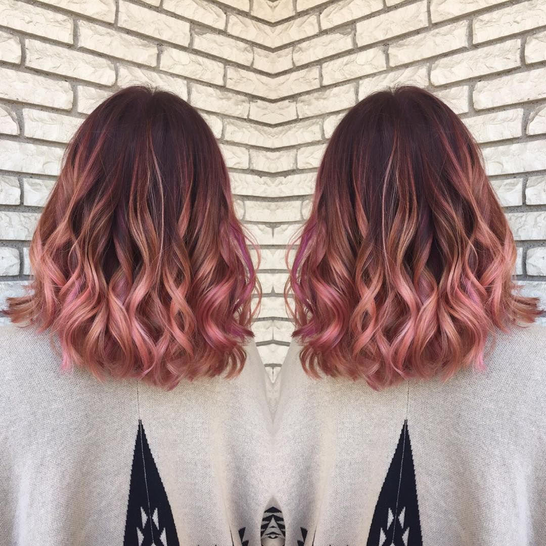 Rose Gold Hair Color Balayage & Color Specialist (@hairbymadisoncarlisle) • Instagram photos and ...