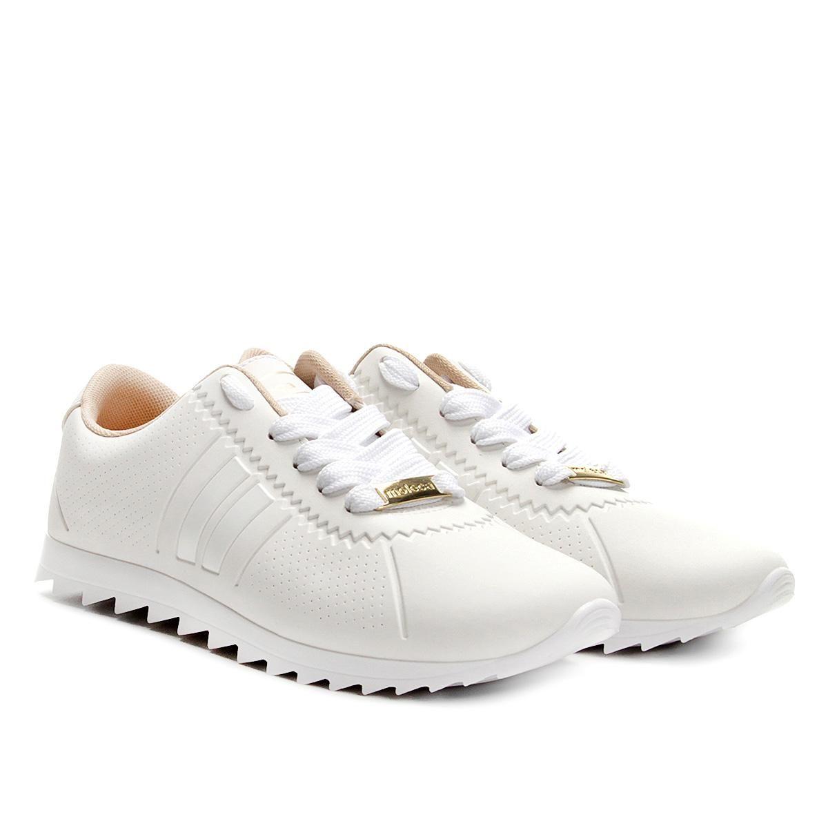f6ede8cff5 tênis moleca jogging tira lateral feminino branco