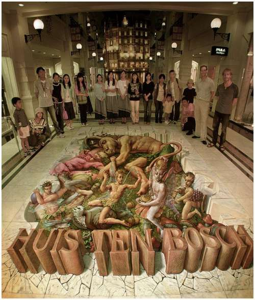 Awesome Kurt Wenner's Street Illusions