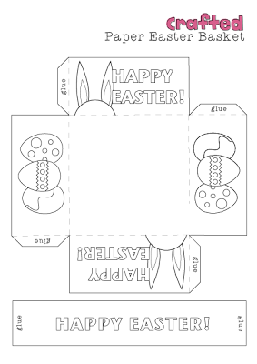photo relating to Easter Basket Printable identify Easter craft, Printable easter basket EASTER Easter