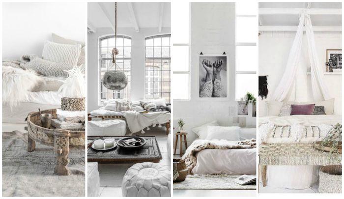 Schlafzimmer Einrichten Ideen In Wei0 Und Hellgrau, Dezente Einrichtung Mit  Stil, Arabischer Style,