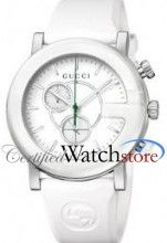 17ba94c21cb Gucci YA101346 Watch G Chrono Ladies - White Dial Stainless Steel Case  Quartz Movement