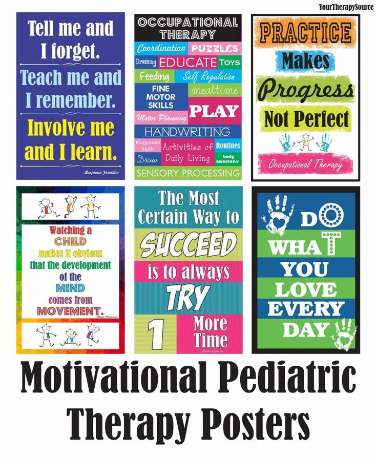 Be Inspired Motivational Tools for Pediatric Therapists