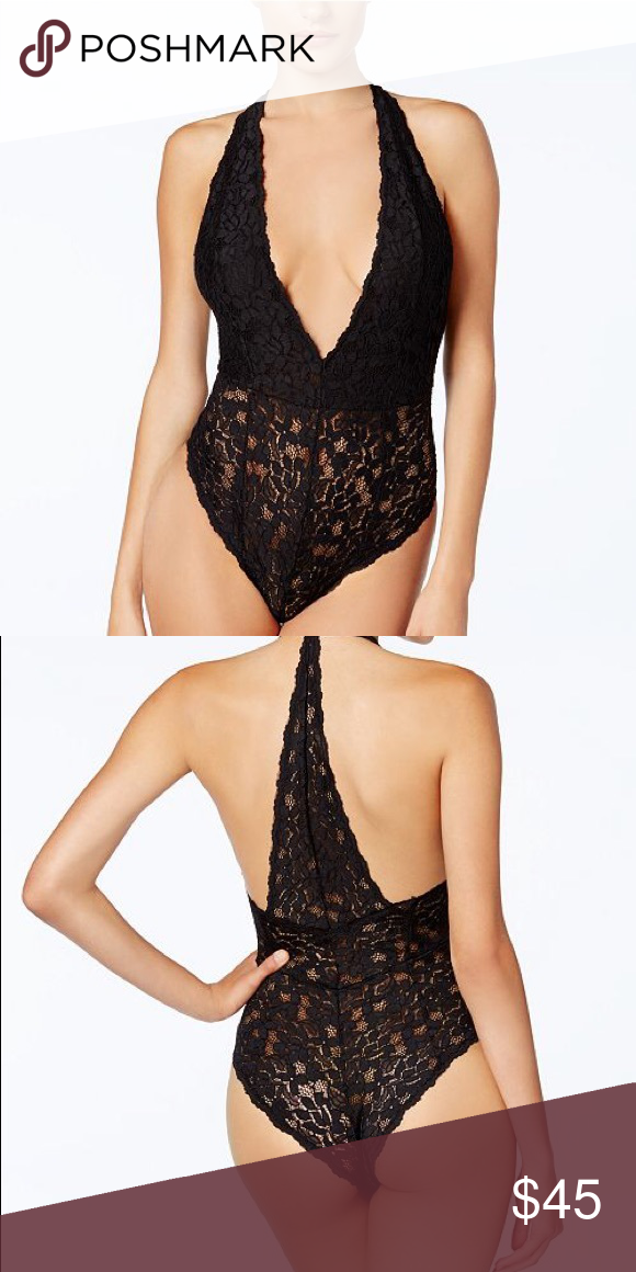 7740c2b8e5b9 NWT Free People Avery Sheer Lace Bodysuit Flatter your figure with the deep  V-neck