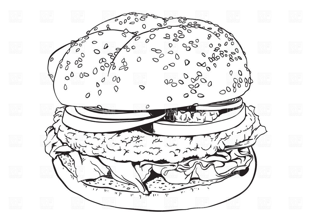 hamburger | Coloring | Pinterest | Hamburgers
