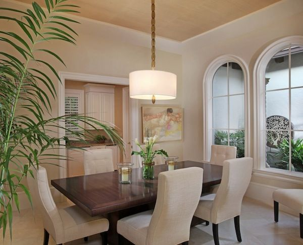 Dining · Dining Rooms With Drum Lighting | Dramatic Drum Pendant ...