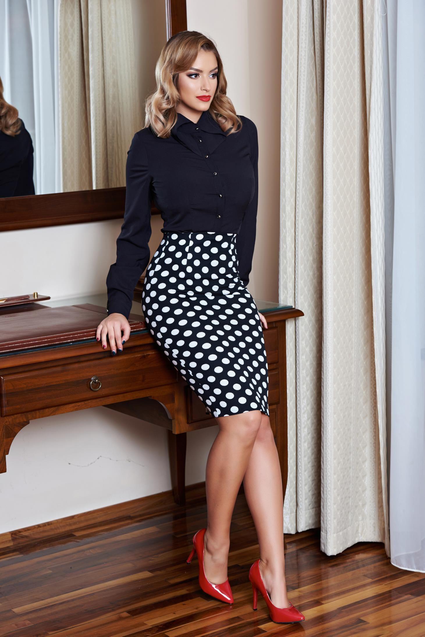 Fusta rosie cu pliuri SERENA-R de la Ama Fashion | Midi skirt, Fashion, Skirts