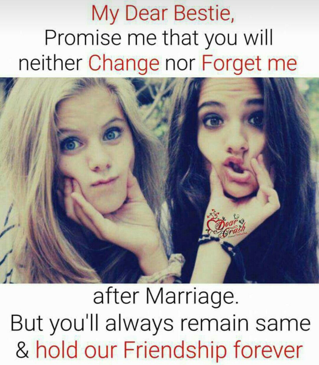I Will Never Marry Again Fr My Best Friend Forever Ok Friends Forever Quotes Friends Quotes Funny Friends Quotes