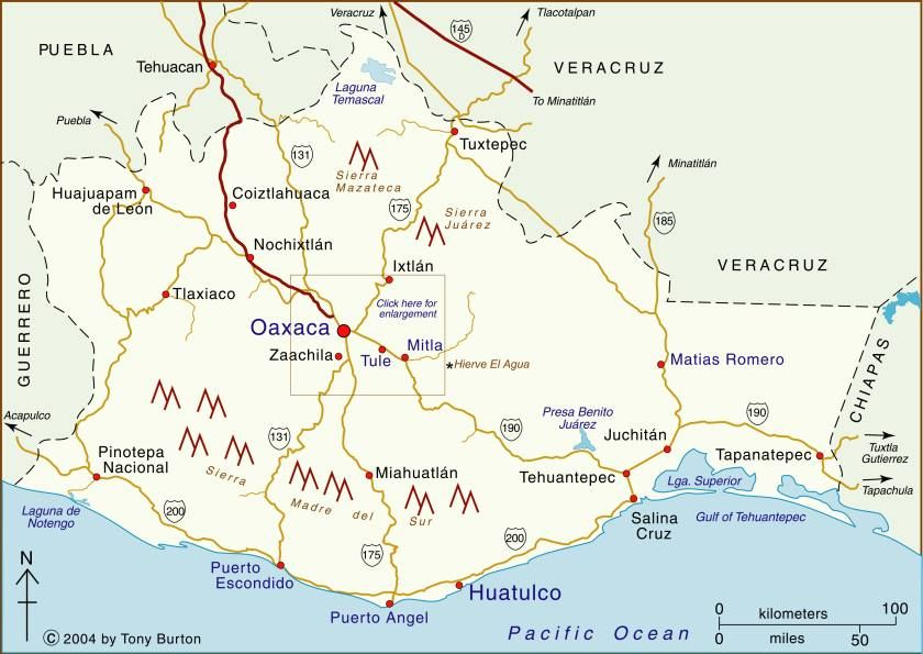 Clickable Interactive Map Of Oaxaca State Mexico Oaxaca Puerto Escondido Puerto Angel Mitla Monte Alban Puerto Escondido Oaxaca Mexico