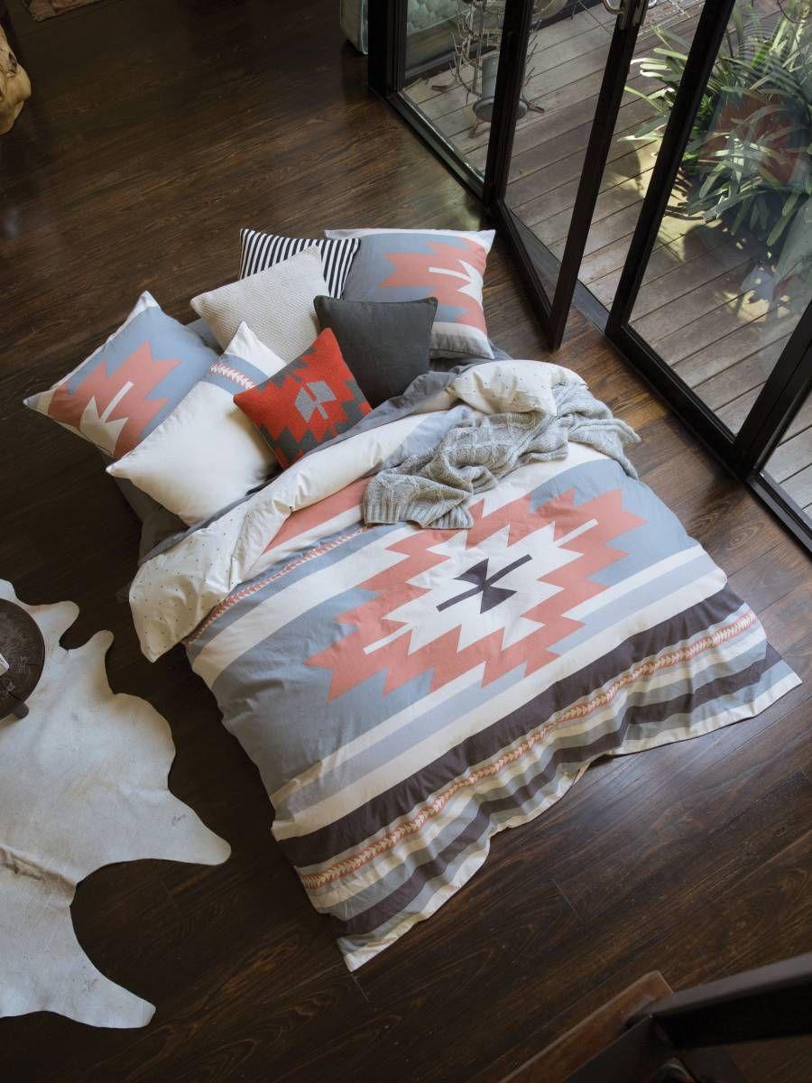 TOLUCA QUILT COVER SET ORANGE DOUBLE LINEN HOUSE | home | Pinterest ...