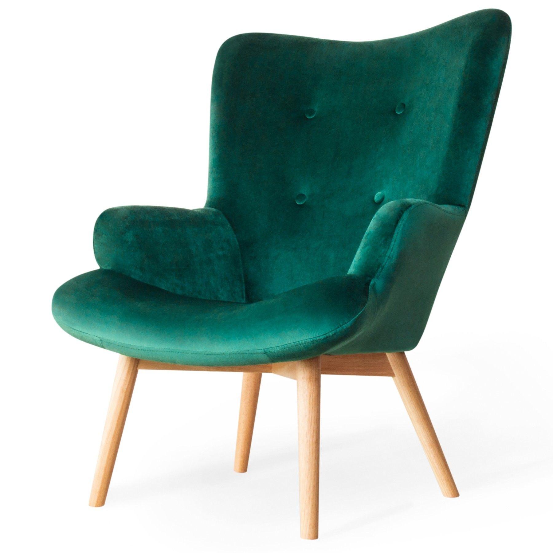 Moss Fotel Ciemnozielony 72x96 Cm Fotele I Pufy Meble