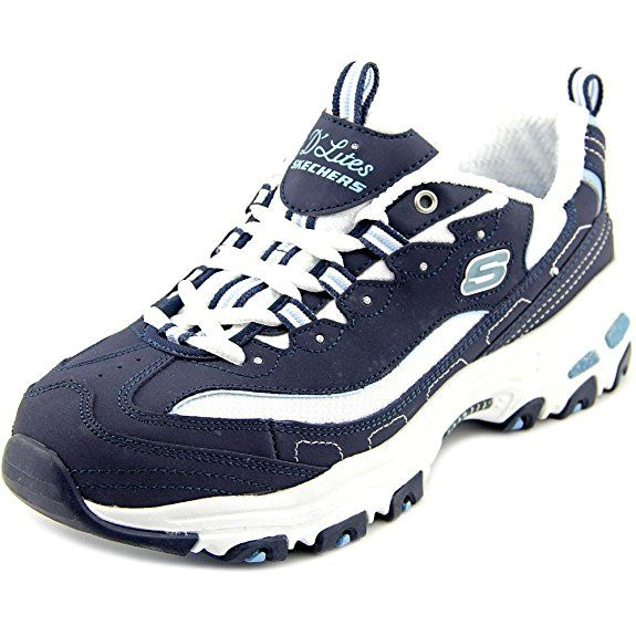 b77d8e2c2f1d Skechers 11930 D Lites Biggest Fan - Navy White (Blue) Womens Trainers 9 US