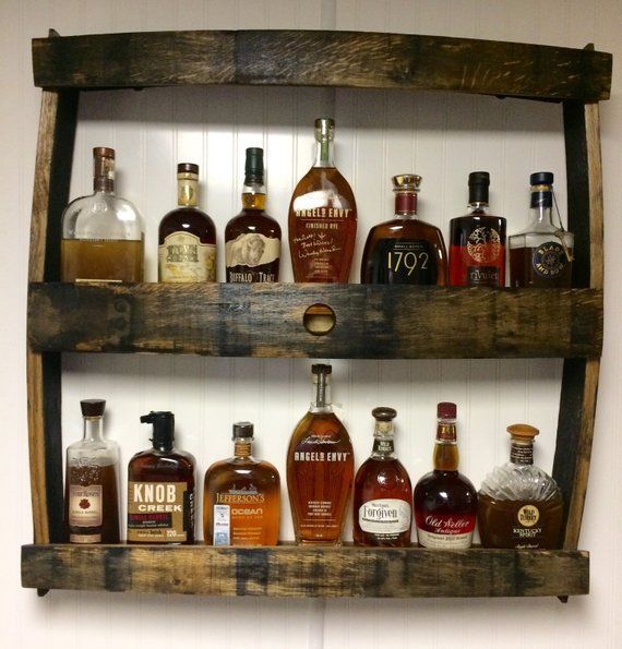 Bourbon Bottle Display Shelf. Great for Man Caves -   22 diy projects for men man caves ideas