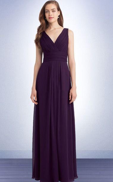 Inviting Eggplant Purple V Neck Peats Backless Long Bridesmaid Dress Glasgow