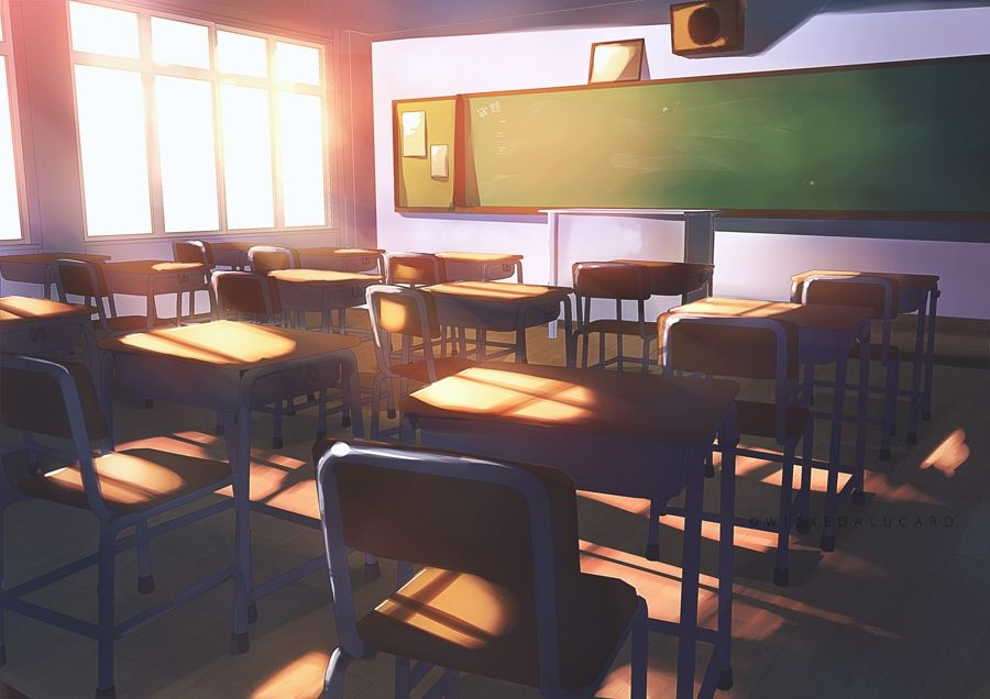 This Is The Classroom Where Classes Shall Be Held Use This For Classroom Rps Admin Anime Classroom Anime Background Anime Scenery