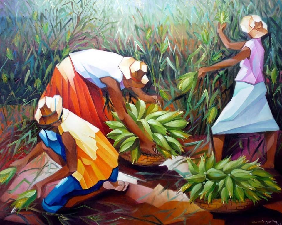 Colheita de milho, de Damião Martins.