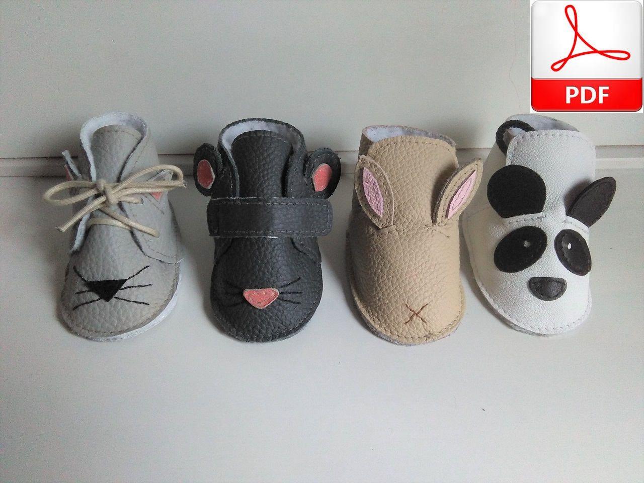 9dafe0eb90e Patrón Zapatos de Cuero Bebé