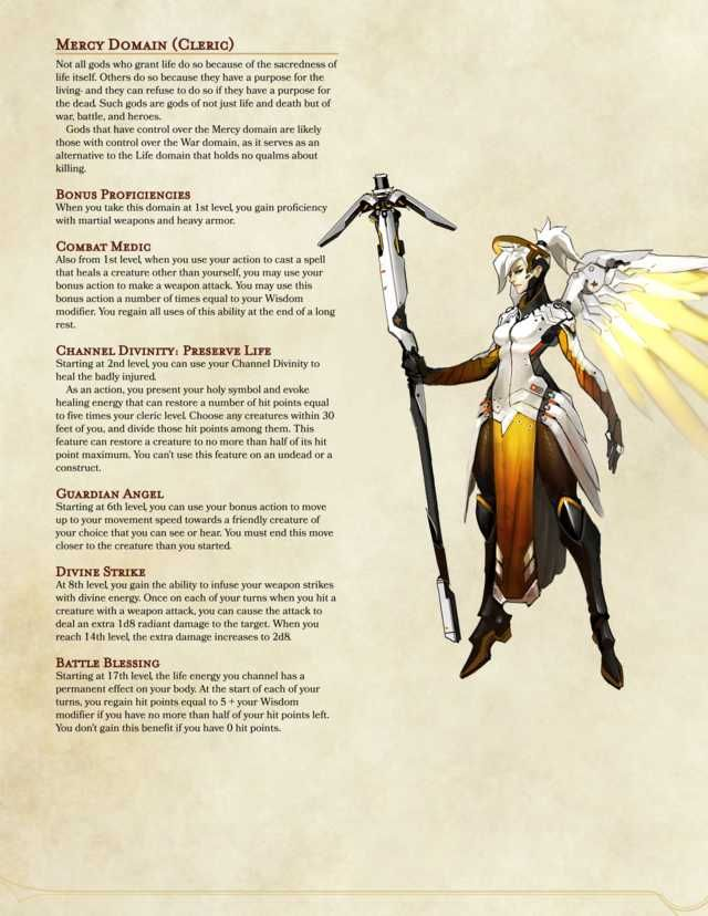 Mercy Domain Cleric (Overwatch Archetype) | rpg in 2019