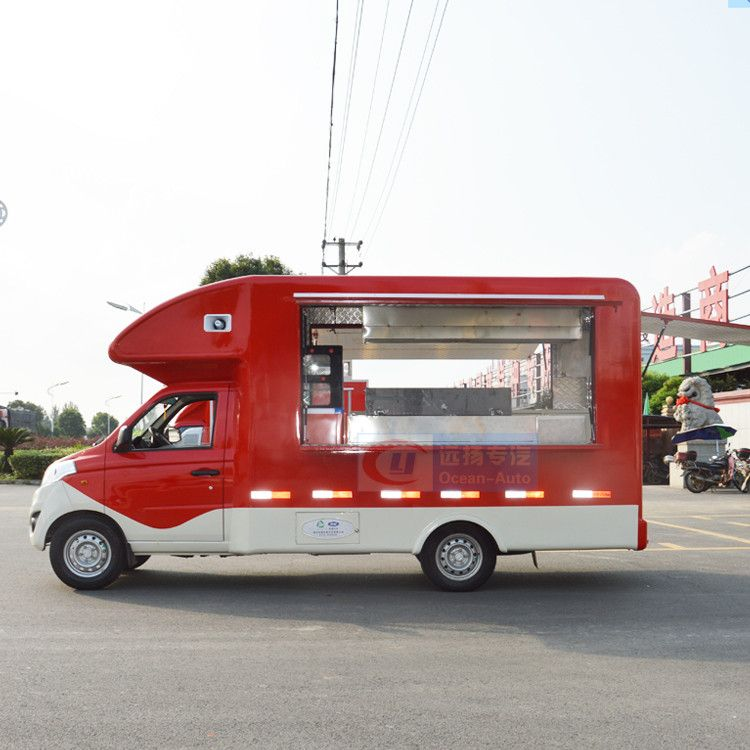 Customized mobile food truck for sale mini truck food