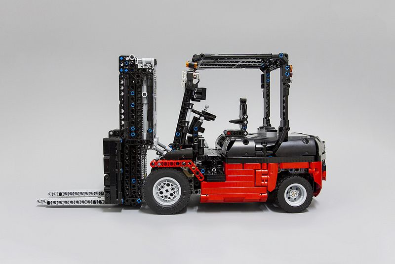 Lego Set Moc 3681 Lego Technic Custom Forklift Mk Ii Building