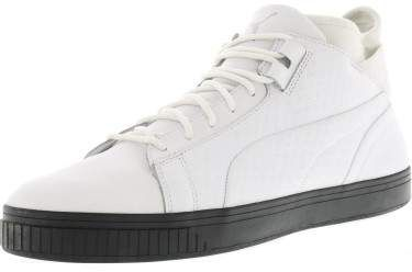 fbabb7e46e86 Puma Men s Play B And W White   Ankle-High Leather Fashion Sneaker - 12M