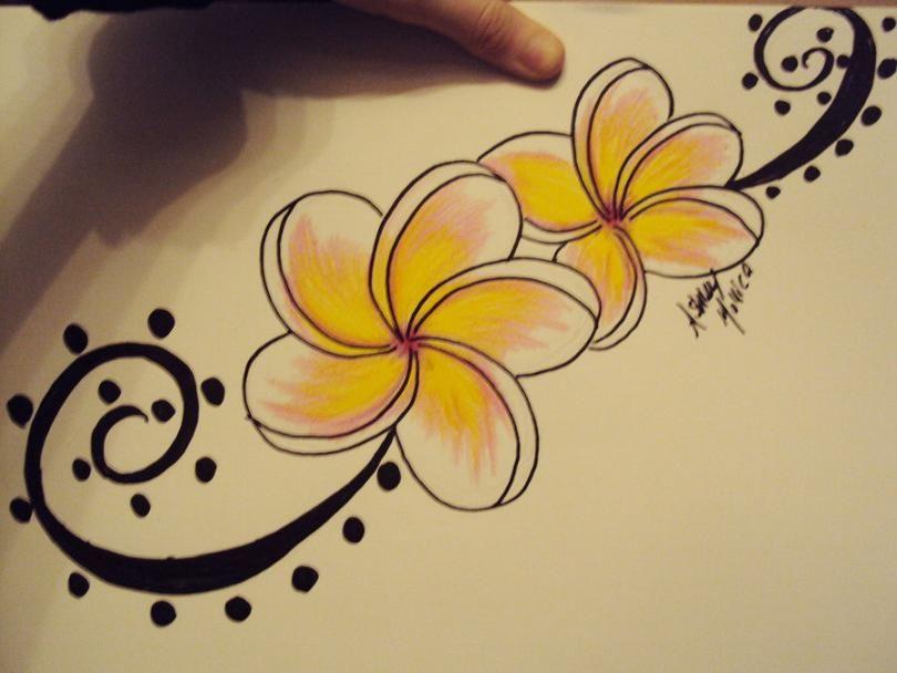 tattoos and art hawaiian flower vine flowers tattoo tattoos pinterest hawaiian flowers. Black Bedroom Furniture Sets. Home Design Ideas