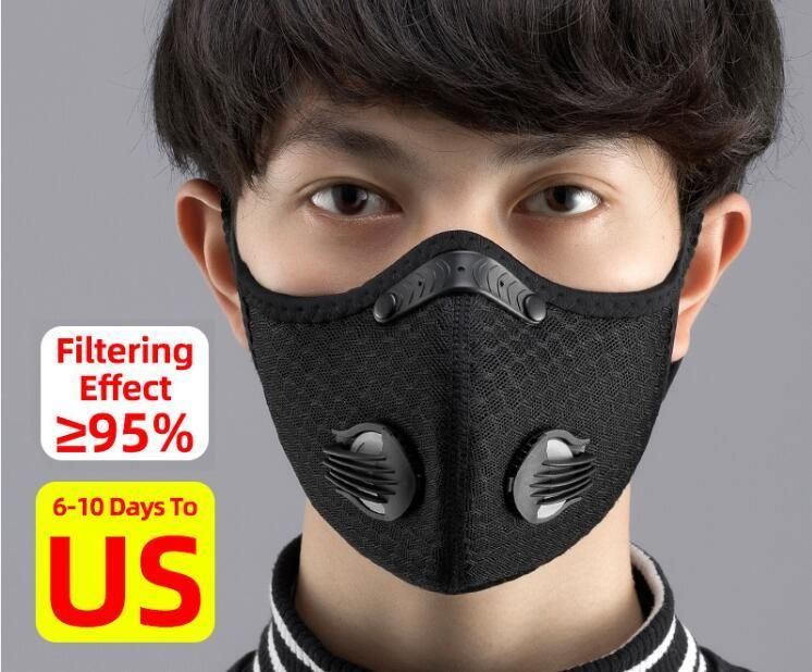 Kn95 Anit Fog Breathable Dust Proof Cycling Face Mask With