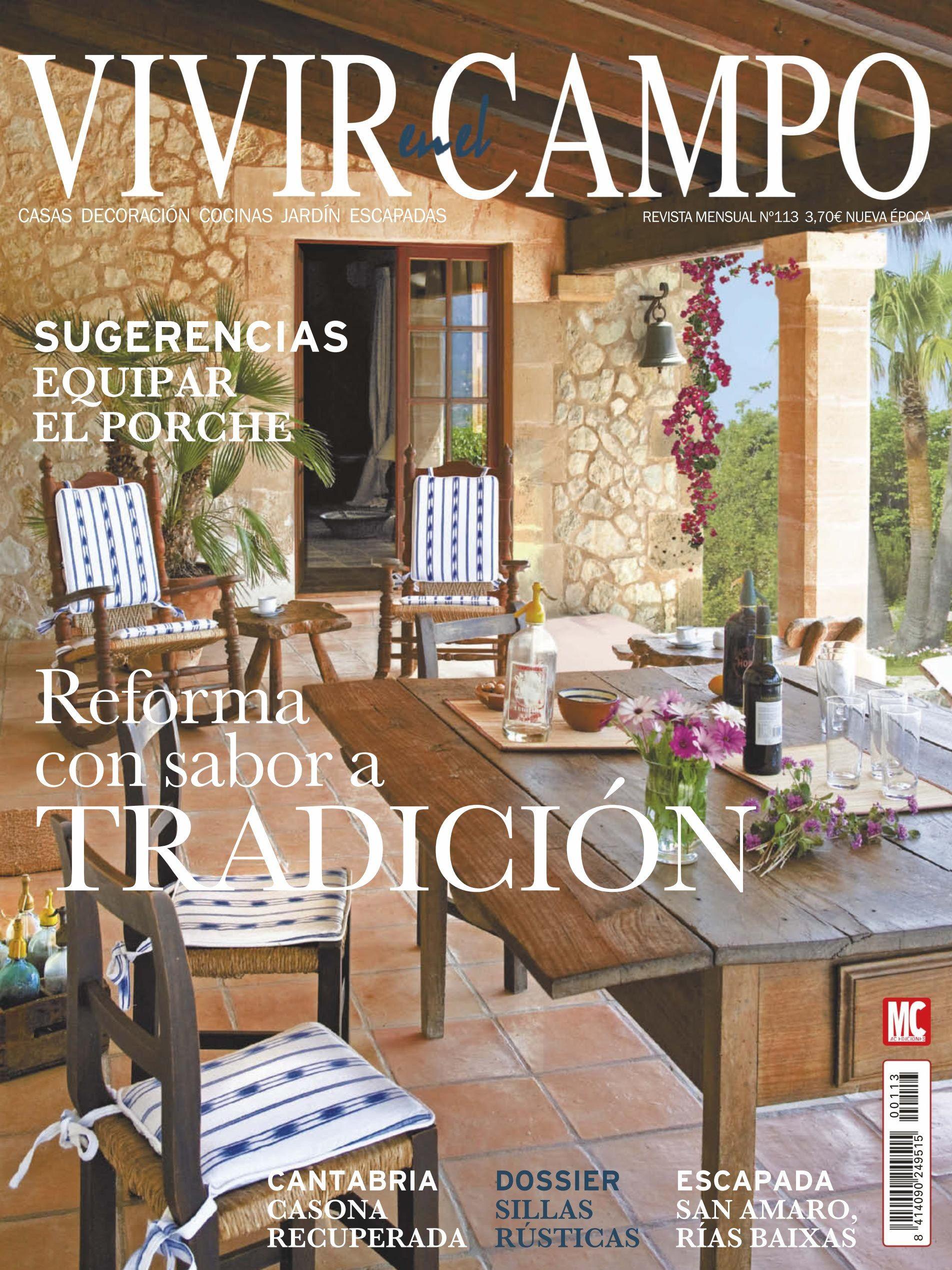 Revista vivir en el campo 113 reforma con sabor a for Casa y jardin revista pdf
