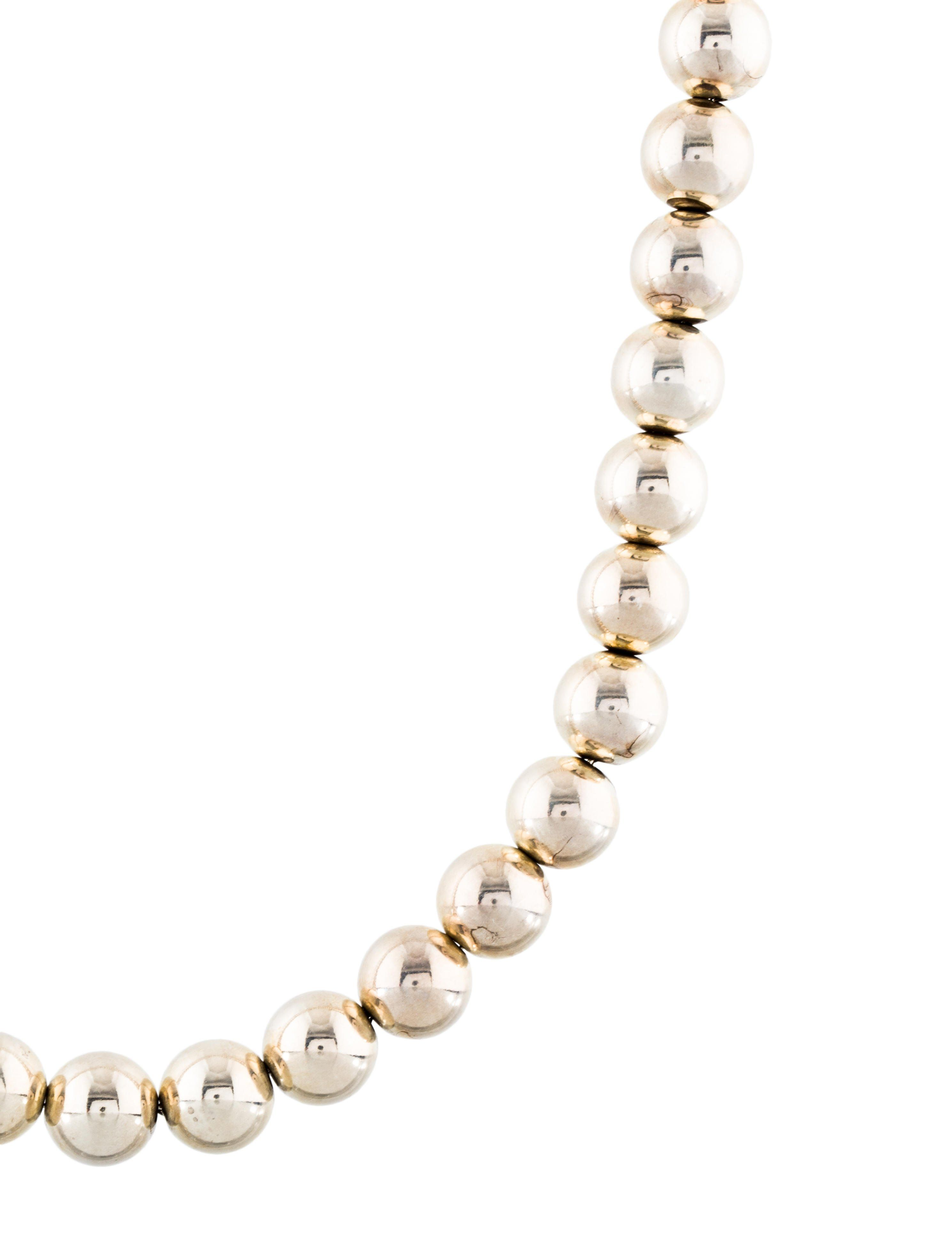 db293fb9c Sterling silver Tiffany & Co. HardWear Ball bead strand necklace featuring  high polish finish with