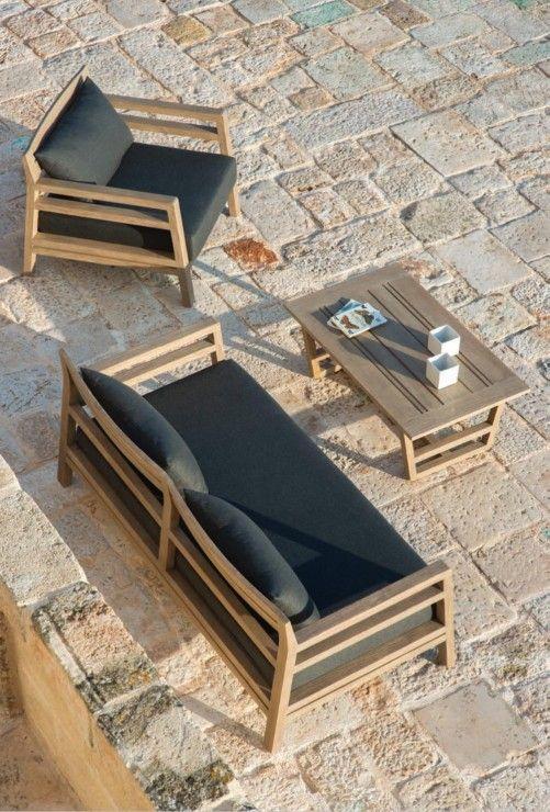 costes gartenm bel von ethimo wohnzimmer auf der terrasse mit diesem costes sessel und sofa in. Black Bedroom Furniture Sets. Home Design Ideas