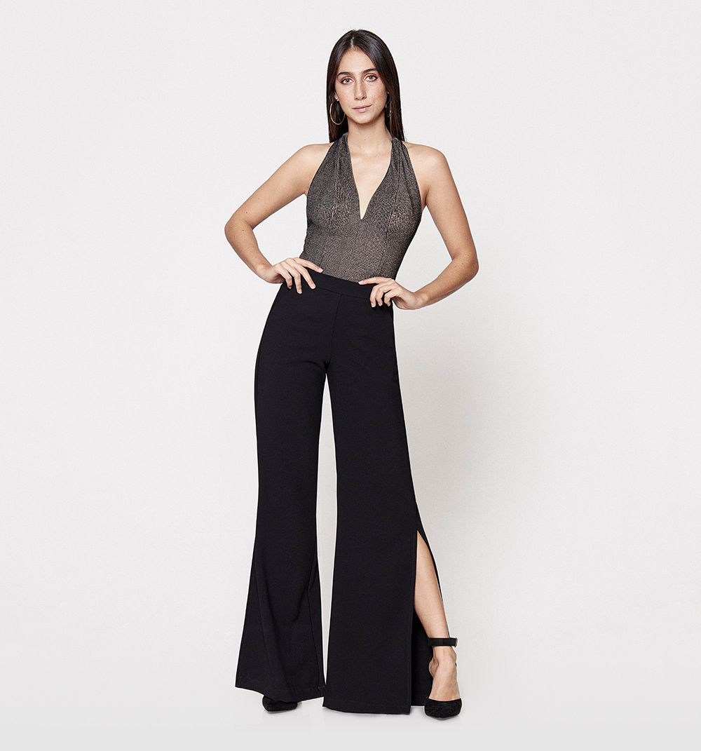 Pantalon Bota Campana Tiro Alto Con Aber Studio F Pantalon Bota Campana Moda Para Mujer Vestidos