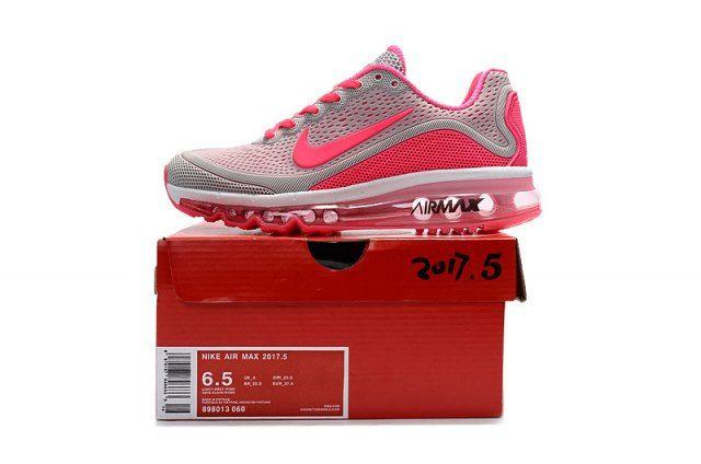 Beautiful Nike Air Max 2017. 5 KPU Light Grey Pink Women s Running Shoes  Sneakers c74009399