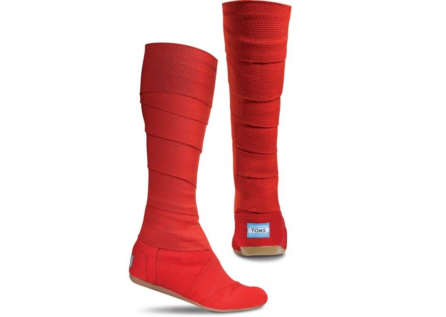 Red Vegan Women's Wrap Boots $98 Oh my, I just realized these wrap ...