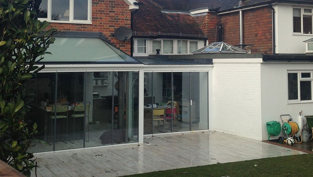 All the latest innovations in Patio Doors and more Bi Folding Frameless Glass and Sliding Doors. SunSeeker Doors is the ONLY manufacturer of UltraSlim ... & Fabulous extension with a bank of glass doors that can be opened all ...