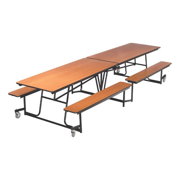 Mbt10 Mobile Bench Cafeteria Table 30 Inch W X 10 Foot L Today S Classroom Cafeteria Table Table Ping Pong Table