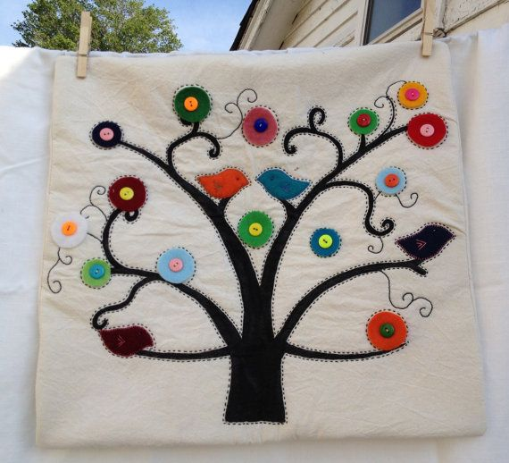 Hand painted Tree pillow cover by CatalinaObando on Etsy $55.00 & Hand painted Tree pillow cover by CatalinaObando on Etsy $55.00 ... pillowsntoast.com