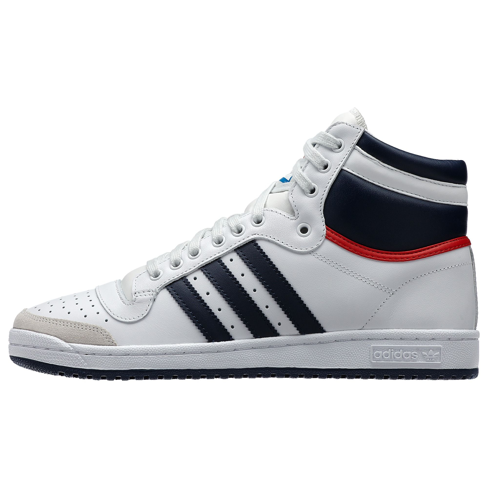 huge selection of f7631 21fce 35 years ago the adidas Top Ten shoes built a bridge between basketball and  the street. This legendary hi top sneaker features full grain leather  upper, ...