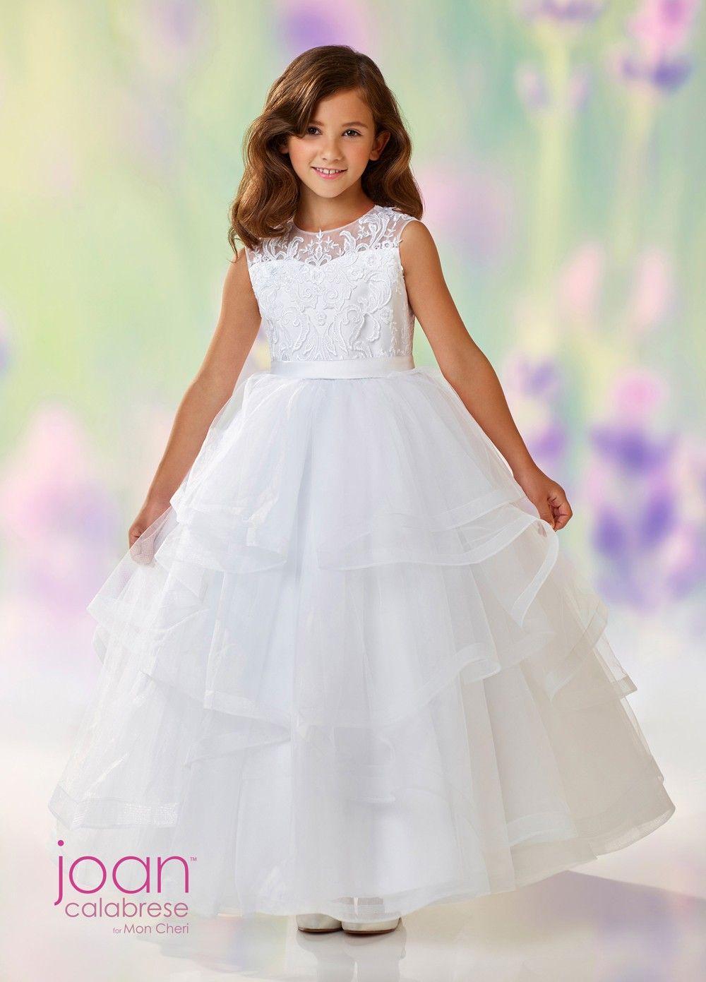 9e1e506deed Joan Calabrese 118310 Tiered Skirt First Communion Dress
