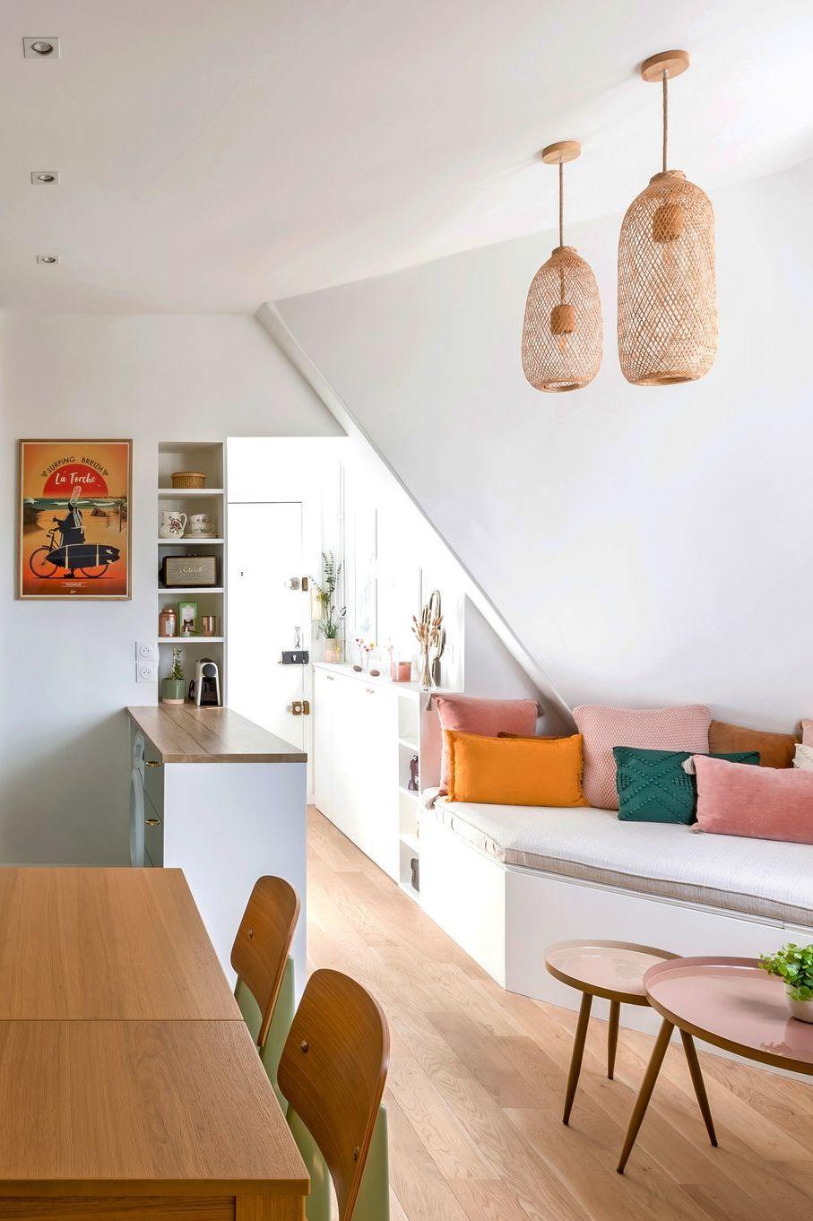 Petit Appartement Paris 10 Amenagements Sur Mesure Et Deco Champetre En 2020 Petit Appartement Appartement Paris Interieur Maison