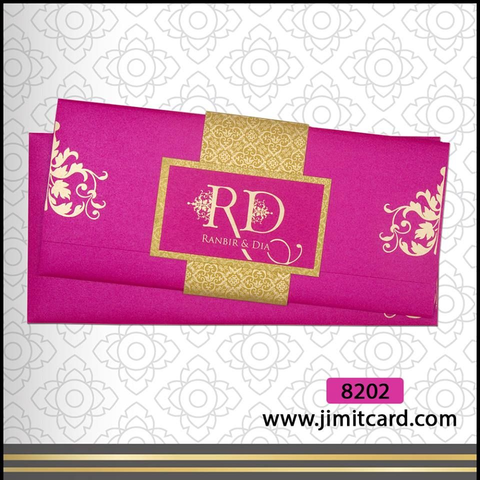 An Indian Wedding Card in bright and vibrant colours & try fold is ...