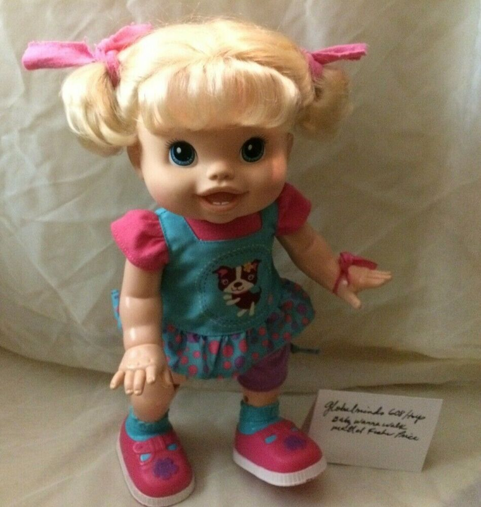 Baby Alive I Wanna Walk Doll 2011 Blond Walking Talks Original Clothes Works Hasbro Clothes Words Original Clothes Baby Alive