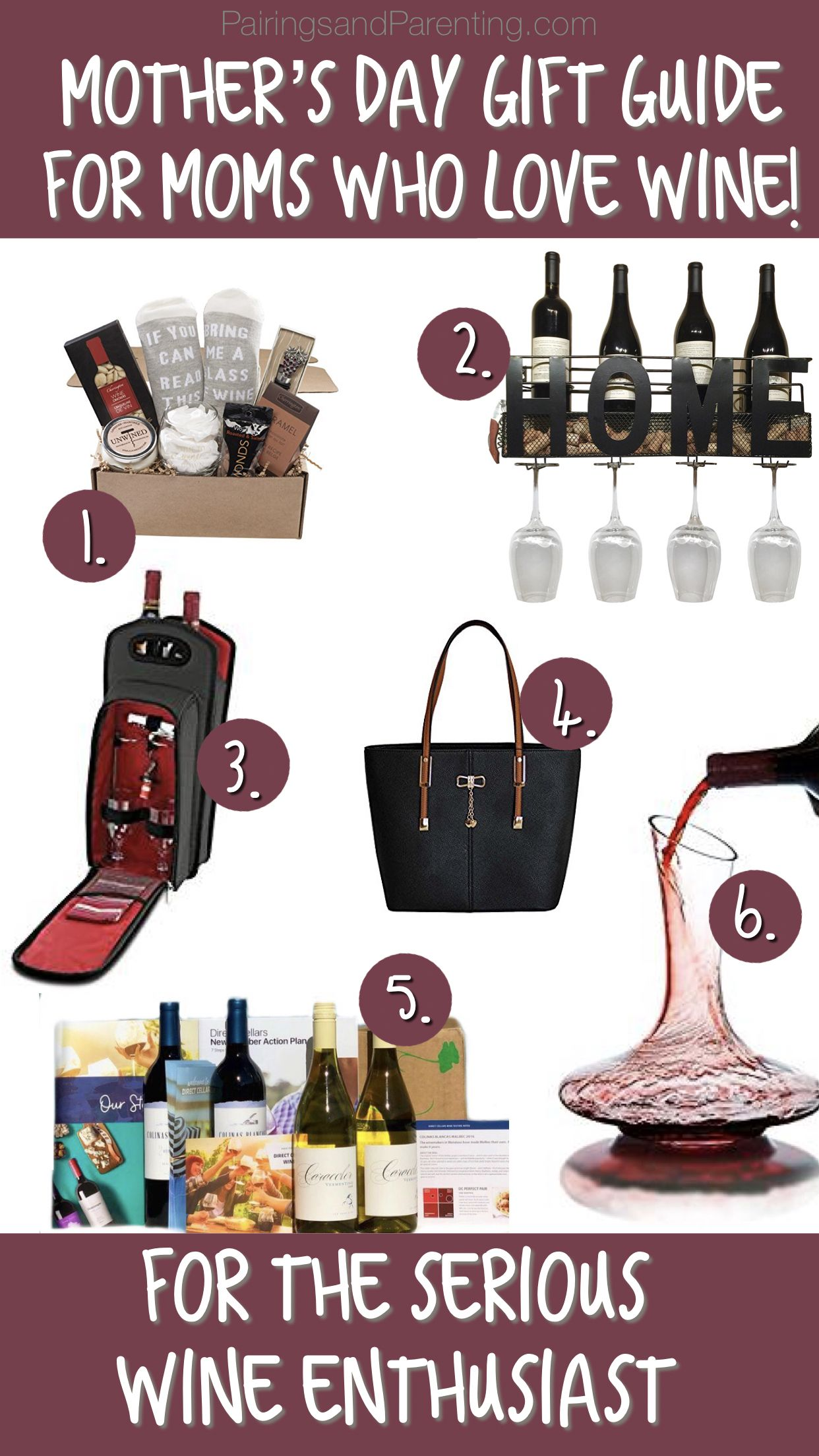 Mother S Day Gift Guide For Moms Who Love Wine Pinot And Parenting Diy Mothers Day Gifts Gifts For Wine Drinkers Mothers Day